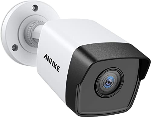 ANNKE 5MP PoE Security Camera 2560×1920 Super HD Bullet IP Cam, 100ft EXIR Night Vision, H.265 Video Compression, Onvif Compliant, IP67 Weatherproof for Outdoor Indoor