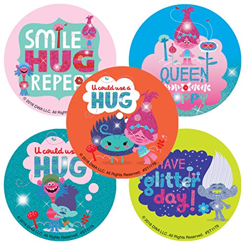 Dreamworks Trolls Glitter Stickers 50 per Pack