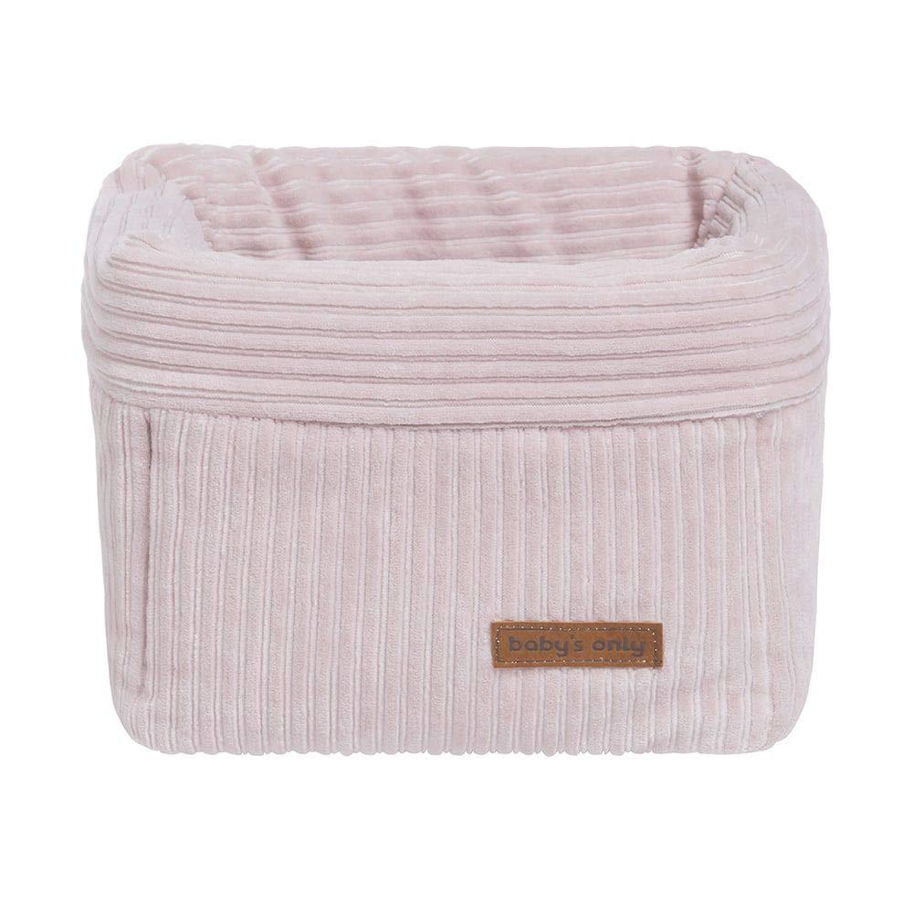 Babys Only 243907 Wickeltischk/örbchen Cord Sense rosa 18x18x18 cm