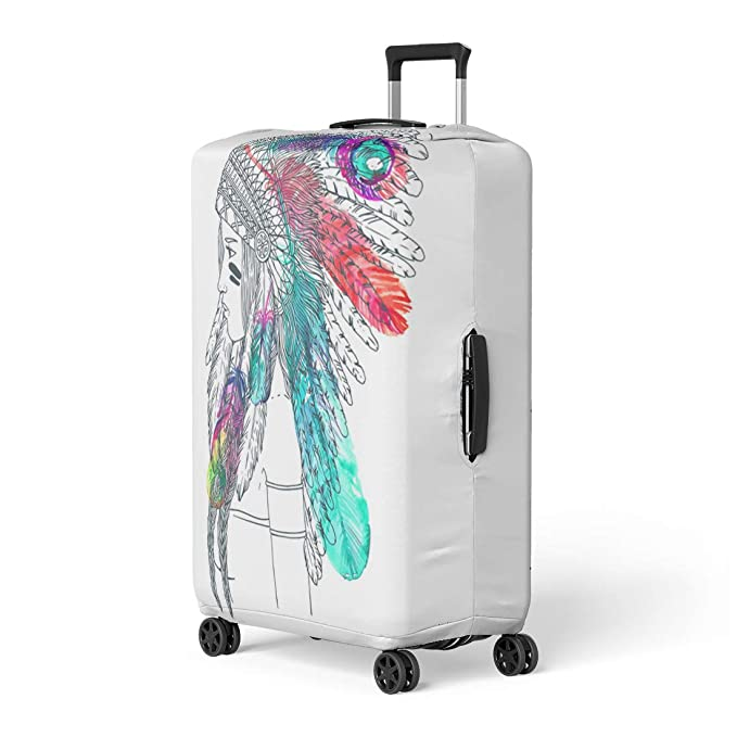 38c885969d27 Amazon.com: Pinbeam Luggage Cover Cool Flat Character on Skeleton ...