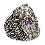 ZNKVJ Titanium Steel Male's 2012 Year Silver Ravens Championship Rings,Size 10