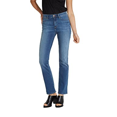 Wrangler Damen Jeans, Frauenjeans W27UU486L High Rise Bootcut Misty Blue   Amazon.de  Bekleidung b381a11a13