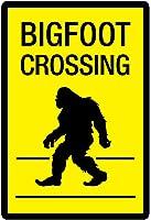 Bigfoot Crossing Sign Art Poster Print 13 x 19in