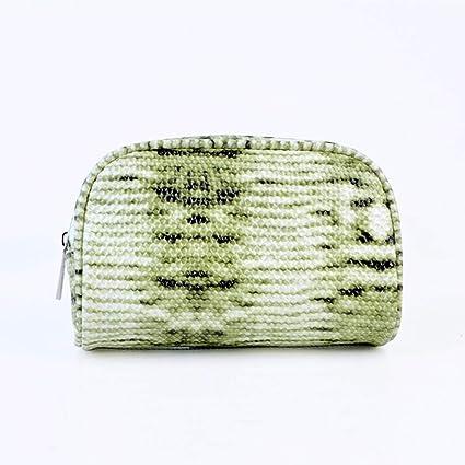 DUXX Bolso cosmético, pequeña Bolsa de Lavado de Piel de Serpiente portátil Bolso de Embrague de ...