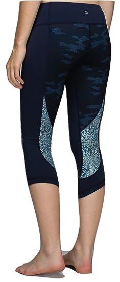 Amazon.com : Lululemon Wunder Under Crop Yoga Pants Sashiko ...