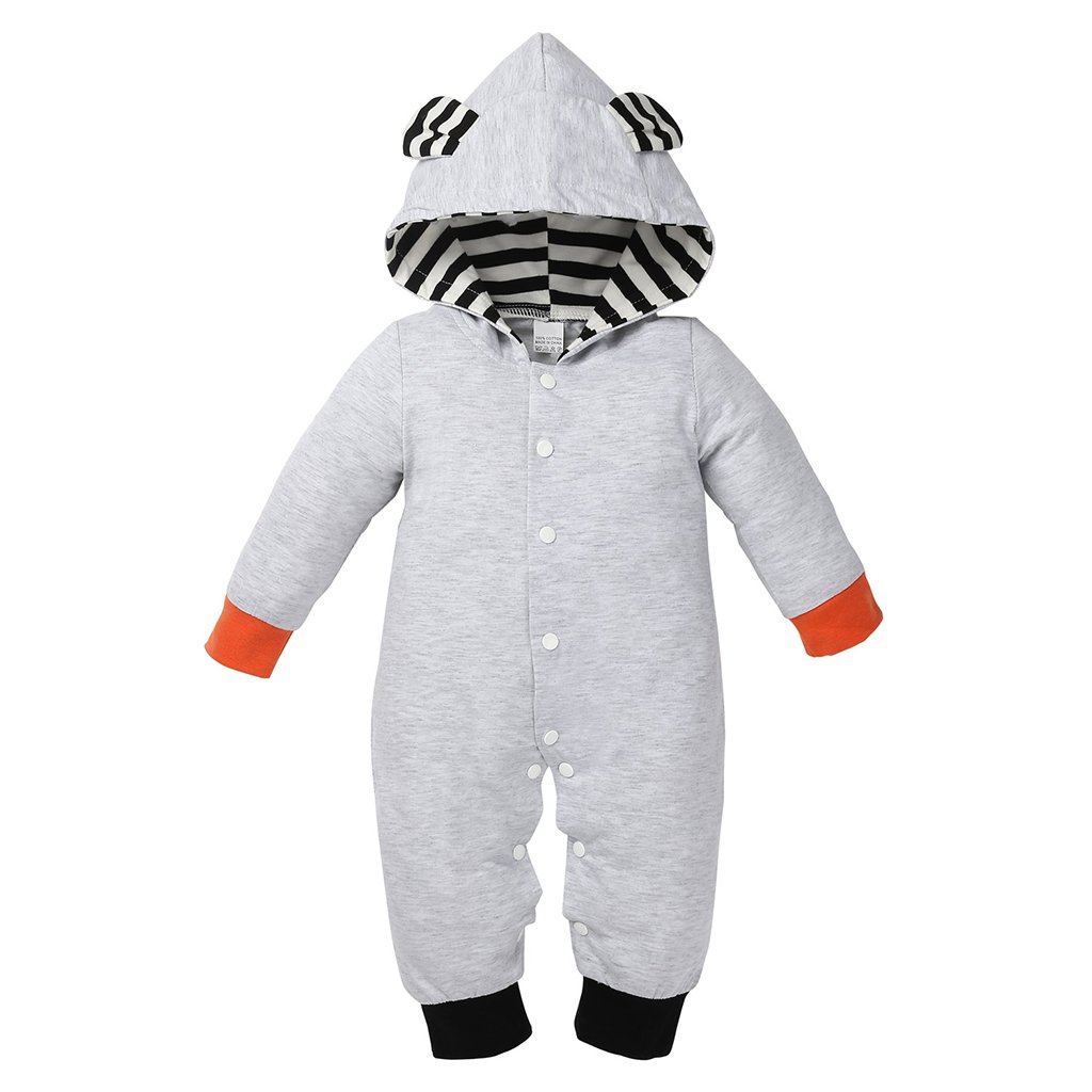 MagiDeal Vestiti con Cappuccio Pagliaccetti Tutine Body di Cotone Caldo Invernale per Bambini Neonate