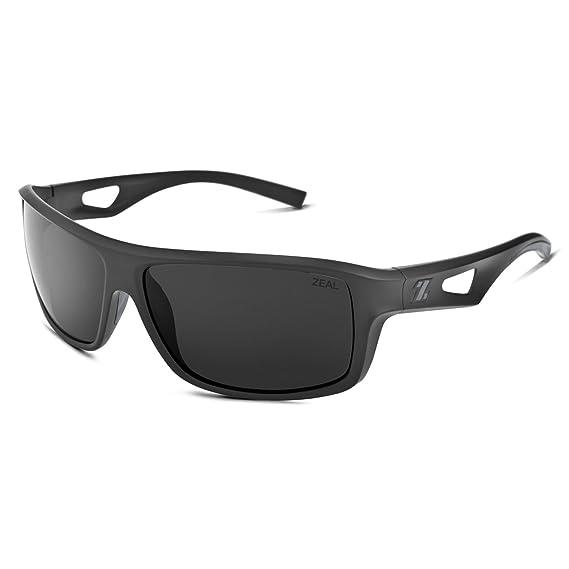 286ff6d16ac Zeal Optics Range Polarized Sunglasses - Black Frame with Dark Grey Lens by Zeal  Optics  Amazon.co.uk  Clothing