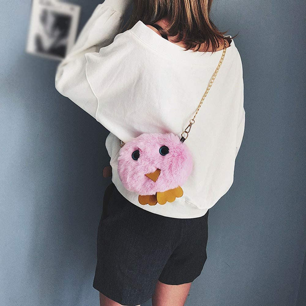 Clearance ❤ JJLIKER Fashion Women Chicken Cartoon Shoulder Bag Cute Plush Bag