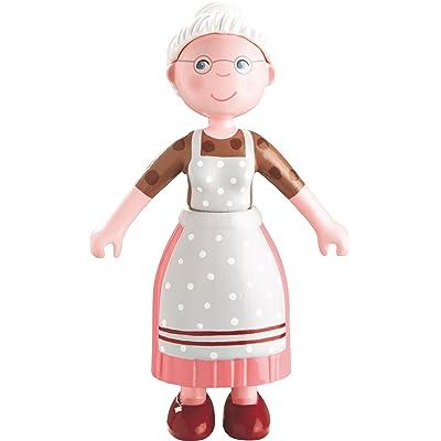 "HABA Little Friends Grandma Elli - 4.5"" Bendy Doll Grandmother Figure: Toys & Games"