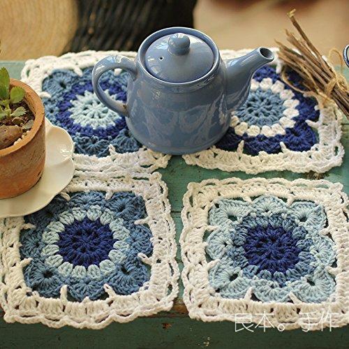 Crochet Bowl pad Disc pad A set of four Coasters Christmas Halloween Gift -