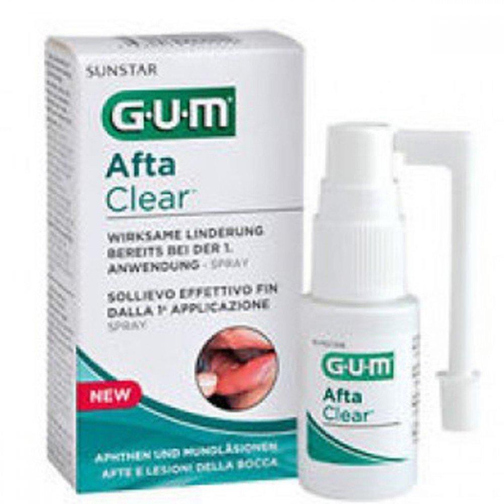 Sunstar Italiana Gum Aftaclear Spray, Trattamento Afte e Lesioni della Bocca - 20 g