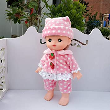 Comfortable Clothes for Mellchan Baby Doll 9-11inch Reborn Girl Coat Pants Dress
