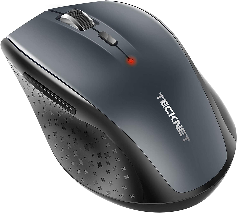 TECKNET Ratón Inalámbrico Bluetooth, Mouse Inalámbrico Bluetooth, 3000DPI 5 Niveles Ajustable Compatible con Laptop, PC, Ordenador, Chromebook, Notebook 24 Meses Duración de Batería