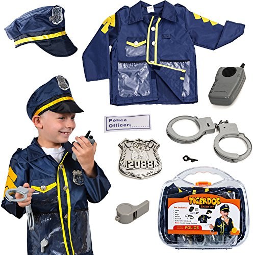 Tigerdoe Police Costume for Kids - Policeman Costume