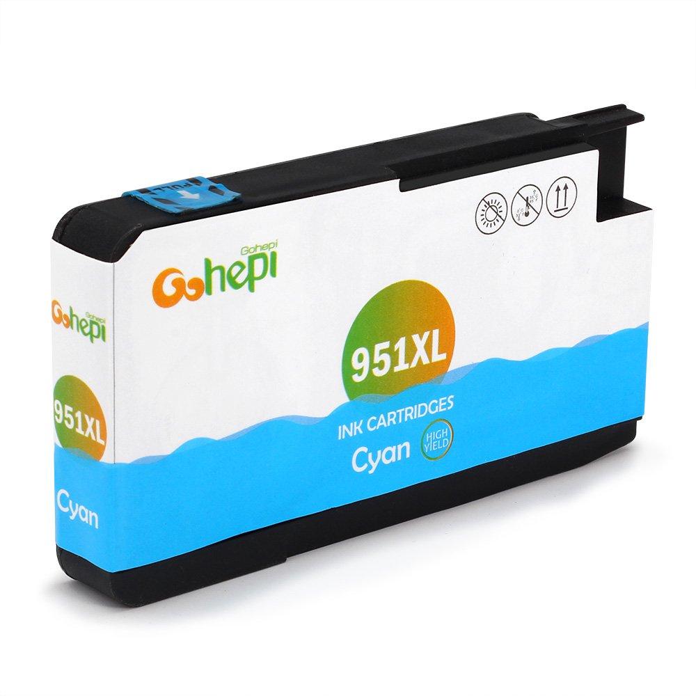 Gohepi 950XL/951XL Compatible para Cartuchos de tinta HP 950XL 951XL, 4 Negro/2 Cian/2 Magenta/2 Amarillo Pack de 10 Trabajar con HP Officejet Pro 8620 8610 ...