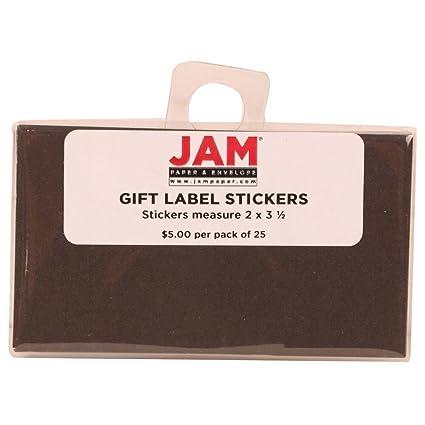 amazon com jam paper gift label stickers 2 x 3 1 2 black 25