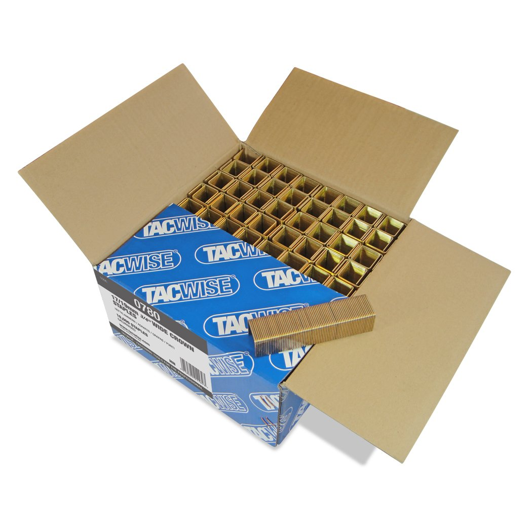 Tacwise 0780 17/19mm Wide Crown Staples for Staple Gun (Pack of 10000)