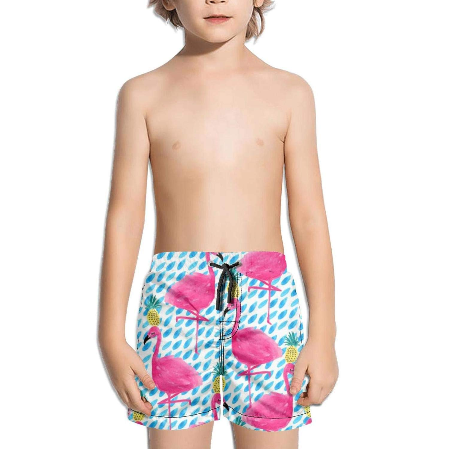Party Flamingos Pineapple Funny NAIT.2 Shorts Swim for Kid Quick Dry Beach Core Swimming Tucks Active Medium Length
