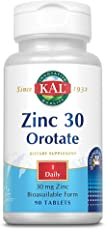 KAL 5198482 Zinc Orotate Sustained Release 30mg | Nutritive Support for Normal, Healthy Protein Synthesis, Proper Growth, Energy & Metabolism | 90 Tablets