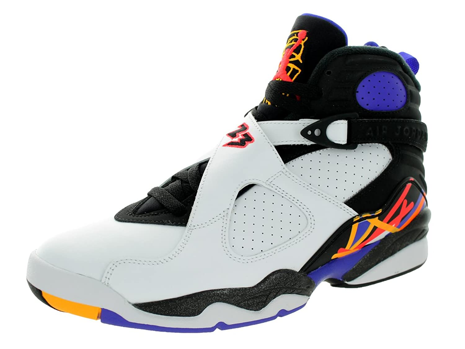 Amazon.com | Nike Jordan Men's Air Jordan 8 Retro White/Infrrd 23/Blk/Brght  Cncr Basketball Shoe 9.5 Men US | Basketball