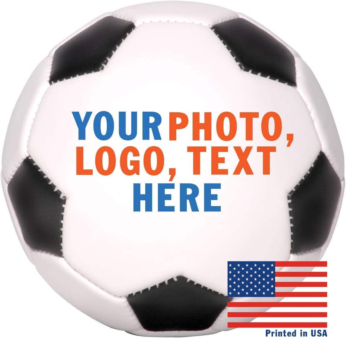Custom Personalized Full Size Soccer Ball - Ships in 3 Business Day, High Resolution Photos, Logos & Text on Soccer Balls - for Players, Trophies, MVP Awards, Coaches, Personalized Gifts 61ALUMhxQwL