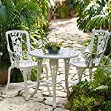 Brylanehome 3-Pc Rose Bistro Set (White)