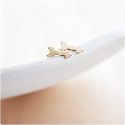Amazon Gold Filled Tiny Follow Your Arrow Earrings Studs For
