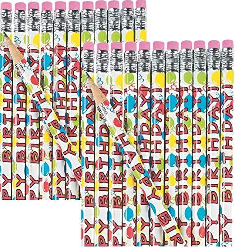 (Fun Express Wooden Happy Birthday Pencils (48)