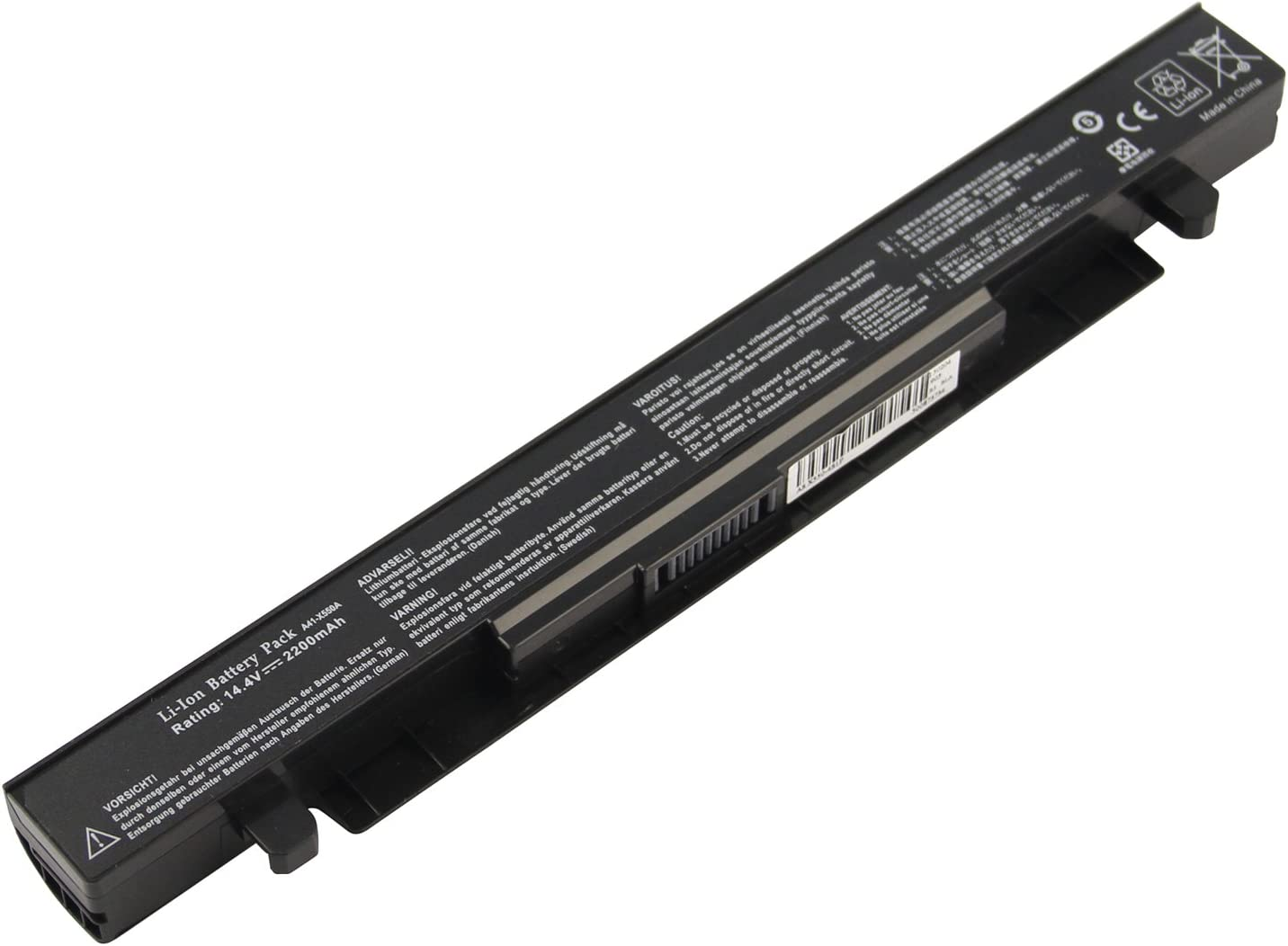 Futurebatt Laptop Notebook Battery for Asus X550 X550A X550B X550D X550L A41-X550 A550C,Asus A550 F550 F552 K450 K550 P450 P550 R409 R510 X452 X550 Series Batteries, 2200mAh/ 4 Cells
