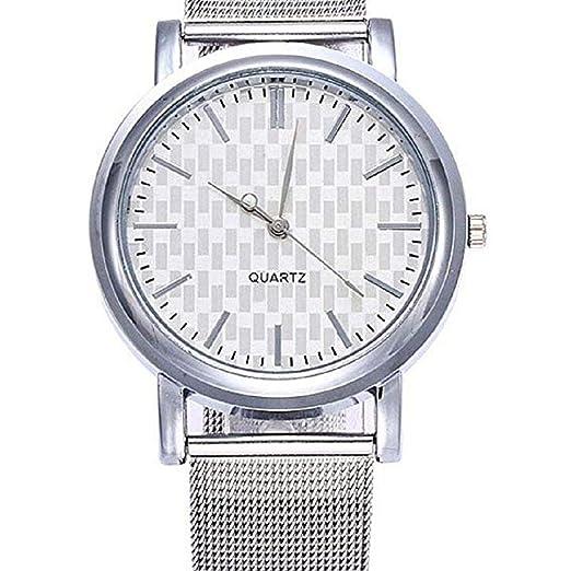 Scpink Venta de liquidación Mujeres Relojes de Cuarzo Relojes de señoras de Moda Relojes analógicos de Acero Inoxidable Correa Reloj de Regalo (D): ...