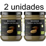 Naturseed - Organic Tahini - Sesame Paste, 250 gr, Bio - Raw, Without Salt for Hummus - Made with Integral Sesame Toasted rind. Calcium, Iron, Magnesium. Free Recipes (2x250gr)