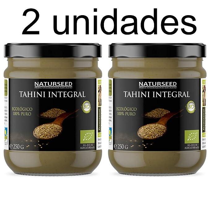 Naturseed - Tahini - Pasta de Sésamo Ecologico, Bio - Salsa Sin Sal Organica Para