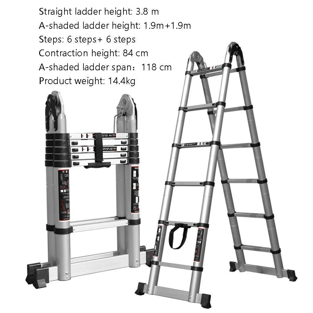 Amazon.com: Escalera de trabajo de Moolo, escaleras de ático ...