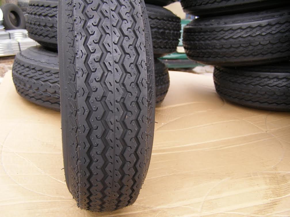 4.80 X 8 Tire and Rim White 4 LUG
