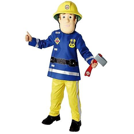 Bambino Pompiere Il Sam taglia M Costume Carnevale Fireman 87tq5q