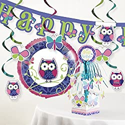 Owl Pal Birthday Party Decorations Kit