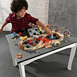 KIDKRAFT Disney Pixar Cars 3 Thunder Hollow 50 Piece Wooden Track Set with Accessories
