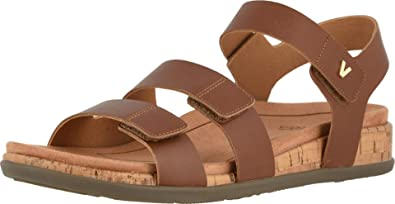 Vionic Women's Colleen Adjustable Backstrap Sandal - Ladies Sandals with Concealed Orthotic Arch Support