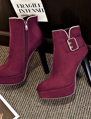 Redonda Mujer Vestido Cn3 Negro Xzz Botas Punta Purple Eu38 Tacón Casual us7 us8 De La Eu39 Stiletto Zapatos Uk5 Botines Moda Uk6 5 Cn38 Cn39 5 A Vellón Morado Black 7wrqEw0n