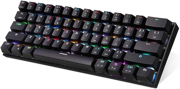 Showyun Teclado mecánico para Juegos RGB K62, Teclado para ...
