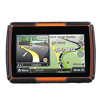 FLOUREON 8 g Navegación GPS para Moto con Mapa de Francia Pantalla Táctil DE 4,