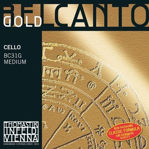 Thomastik Belcanto Gold Cello G String - 4/4 size - Medium Gauge