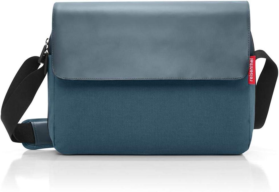 Bleu 10 liters Reisenthel courierbag 2 Canvas Sac bandouli/ère Blue 35 cm