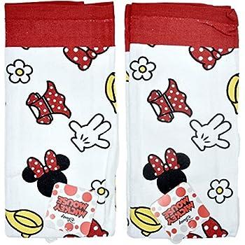 Disney Dish Towels 2 Piece Set Kitchen Cloths (Minnie Mouse Red)