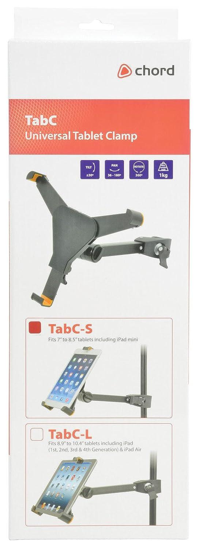 21,59 cm 360/° de rotaci/ón 180,190 UNIVERSAL para TABLET de iPAD soporte abrazadera todos los tama/ños 17,78 cm
