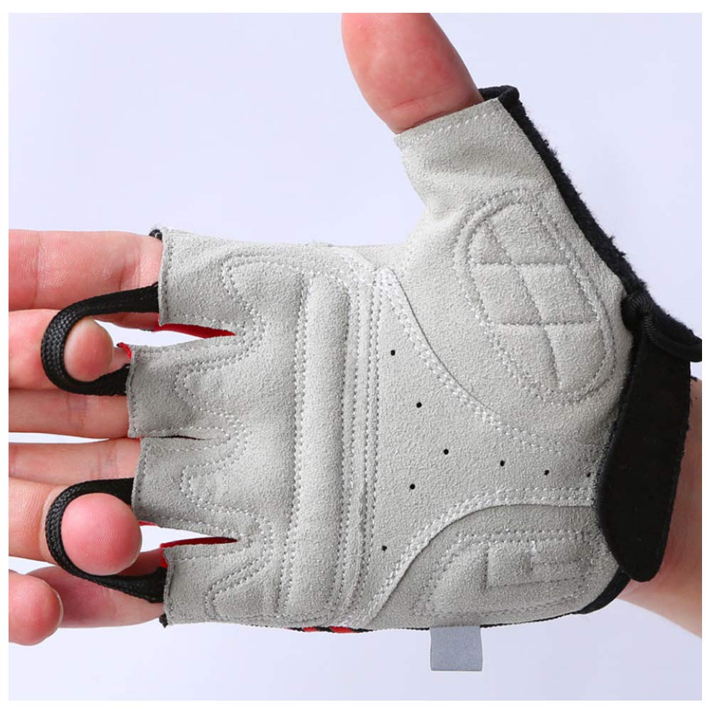 Bike Gloves Cycling Gloves Half Finger Riding Gloves Breathable Mesh Shockproof Foam Padded Sports Gloves for Riding Driving Sports Outdoors Exercise