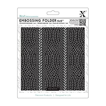 Docrafts 6 X 6 Inch Embossing Folder Cable Knit Pattern Amazon