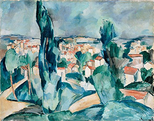 oil-painting-vlaminck-maurice-de-1908-1909-town-10-x-13-inch-25-x-32-cm-on-high-definition-hd-canvas