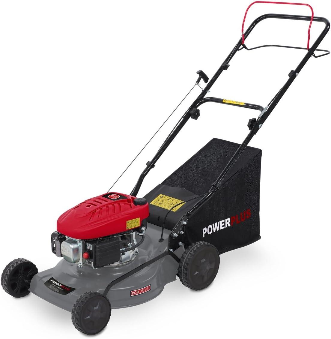Powerplus POWEG63772 Walk behind lawn mower Gasolina Negro, Gris, Rojo cortadora de césped - Cortacésped (Walk behind lawn mower, 41 cm, 2,5 cm, 7,5 cm, Cuchillas giratorias, 0,8 L)
