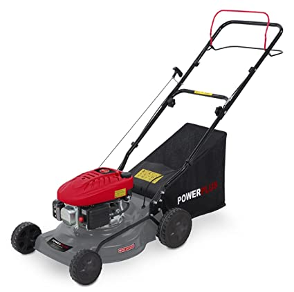 Powerplus POWEG63772 Walk behind lawn mower Gasolina Negro, Gris, Rojo cortadora de césped -